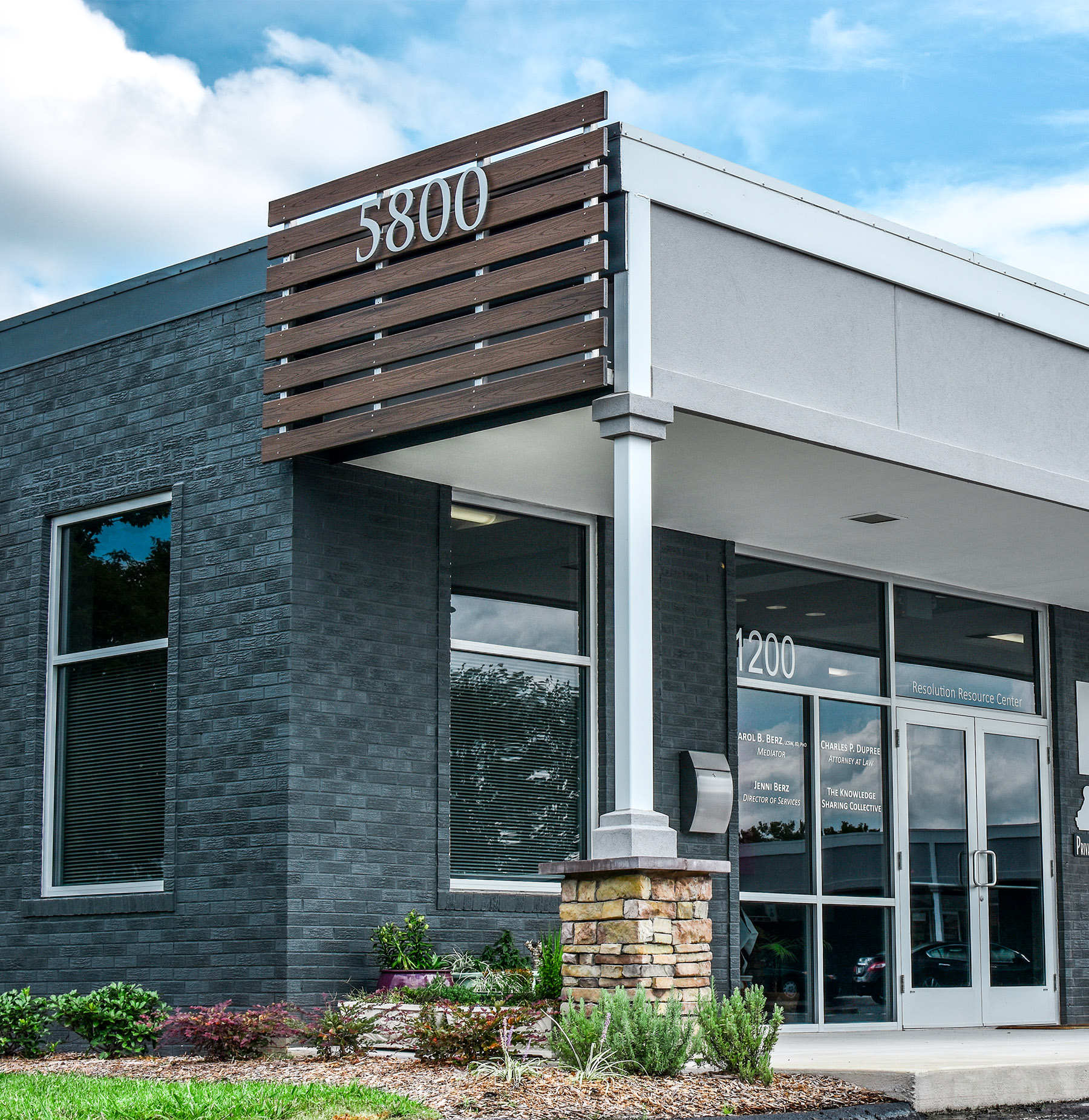 exterior shot of commercial rentals showing the 5800 building